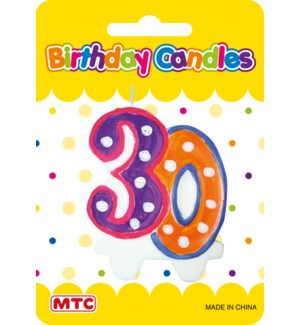 MTC #PF-2452 NUMERIC CANDLE