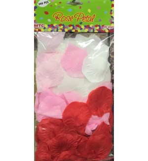 MTC #PF-3725 ROSE PETALS, RED/PINK/WHIE