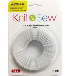 MTC #PF-4245 FASTENER STRIP, WHITE