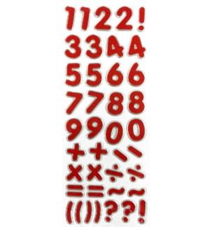 MTC #PF-4434 GLITTER NUMBER STICKES
