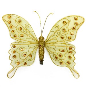 MTC #PF-4498 BUTTERFLY CLIP, YELLOW