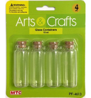 MTC #PF-4613 GLASS BOTTLES