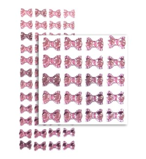 MTC #PF-4789 BOW RHINESTONE STICKERS