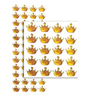 MTC #PF-4790 CROWN RHINESTONE STICKERS