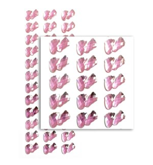 MTC #PF-4791 BOW RHINESTONE STICKERS