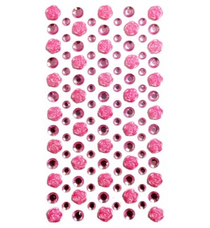 MTC #PF-4847 ROSE RHINESTONE STICKERS