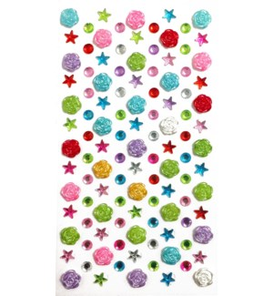 MTC #PF-4848 ROSE RHINESTONE STICKERS
