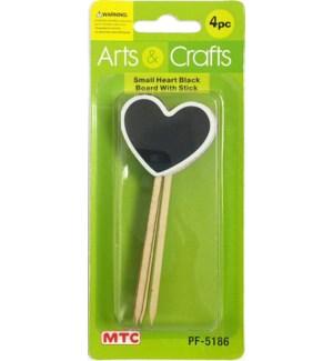 MTC #PF-5186 HEART BLACK BOARD W/STICK