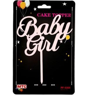 MTC #PF-5308 CAKE TOPPER BABY GIRL