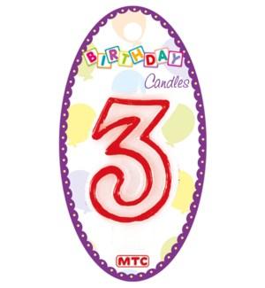 MTC #PF-6902 NUMERAL CANDLE WHITE &
