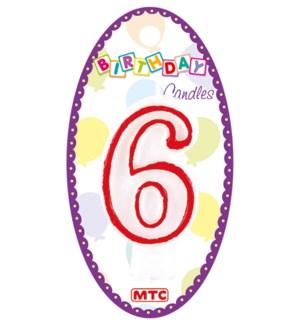 MTC #PF-6905 NUMERAL CANDLE WHITE