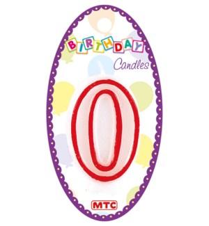 MTC #PF-6913 NUMERAL CANDLE WHITE &