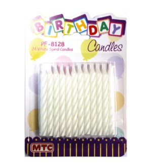 MTC #PF-8128 BIRTHDAY CANDLES SPIRAL
