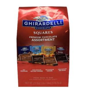 GHIRARDELLI #41498 MILK CHOCOLATE SQUARES