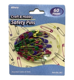 A0861-00 SAFETY PINS COLORED