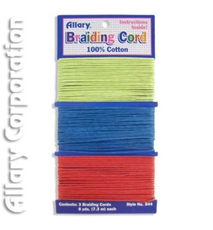A0844-02 BRAIDING CORD (LIME.BLUE.RED)