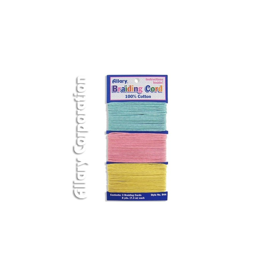 A0844-03 BRAIDING CORD (TURQUOISE.PINK.YELLOW)