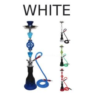 HOOKAH FREDDY WHITE W/2 HOSES