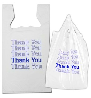 T SACK 1/6 WHITE THANK YOU BAGES(16 MICRON)