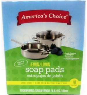 SOAP PADS #55013 LEMON /AMERICA'S CHOICE