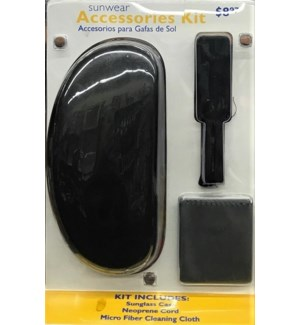 OPTICAL ACCESSORIES #7316 BLACK CLAM