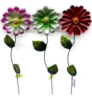 GARDEN STAKE #GA5110 FLOWER/METALLIC
