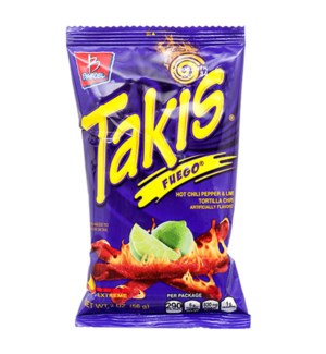 BARCEL CHIPS #00527 TAKIS FUEGO HOT CHILI PEPPER