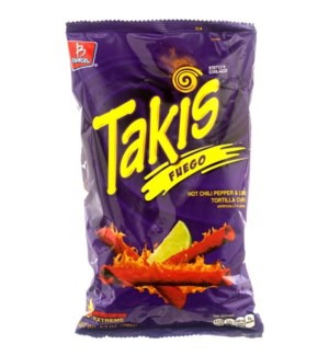 BARCEL CHIPS #4317 TAKIS FUEGO HOT CHILI PEP