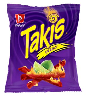 BARCEL CHIPS #123191 TAKIS FUEGO HOT CHILI PEPPER