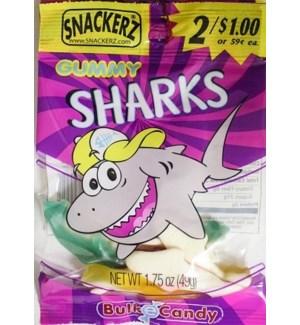 SNACKERZ #5555 GUMMY SHARKS