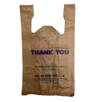 T SACK BEIGE THANK YOU BAGS