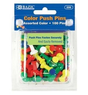 BAZIC #206 PUSH PINS, ASST