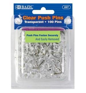 BAZIC #207 PUSH PINS, CLEAR