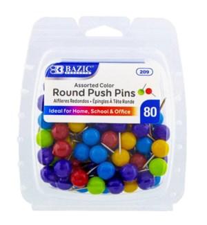BAZIC #209 ROUND PUSH PINS ASST