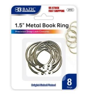 BAZIC #213 METAL BOOK RINGS