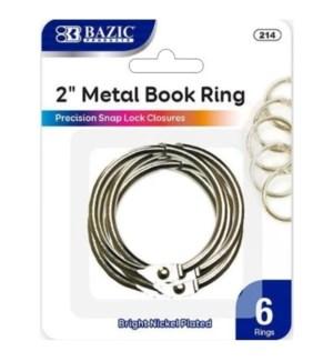BAZIC #214 METAL BOOK RINGS