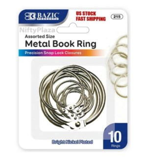 BAZIC #215 METAL BOOK RINGS