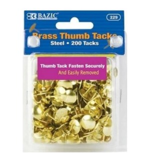 BAZIC #229 THUMB TACKS, GOLD