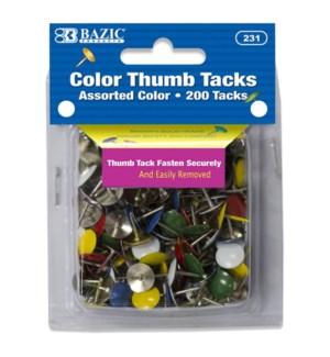 BAZIC #231 THUMB TACKS, ASST