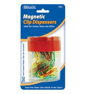 BAZIC #240 PAPER CLIPS HOLDER, MAGNETIC