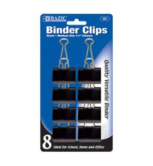 BAZIC #261 8CT BINDER CLIPS