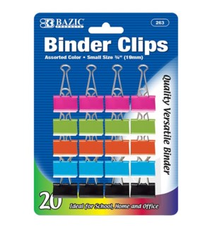 BAZIC #263 20CT BINDER CLIPS