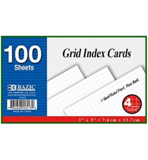 BAZIC #513 INDEX CARDS, WHITE RULED