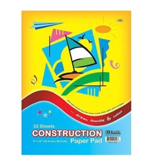 BAZIC #528 CONSTRUCTION PAPER PAD