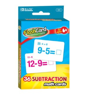 BAZIC #533 FLASH CARDS/SUBTRACTION