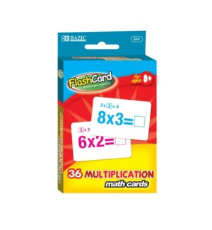 BAZIC #534 FLASH CARDS/MULTIPLICATION