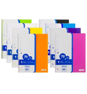 BAZIC #537 1-SUBJECT NOTEBOOK C/R