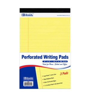 BAZIC #555 WRITING PADS, YELLOW