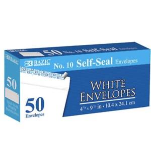 BAZIC #574 WHITE ENVELOPES SELF SEAL
