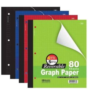 BAZIC #578 GRAPH PAPER, REVERDIBLED/ASST